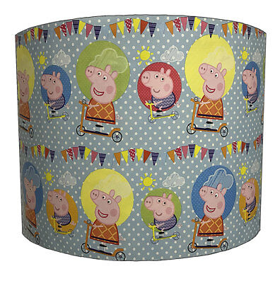 Peppa Pig Lampshades Ideal to Match Peppa Pig Wallpaper, Peppa Pig Duvets Covers