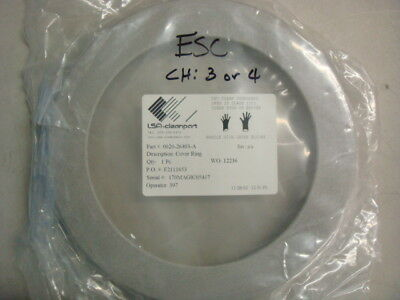 """AMAT, Applied Materials, 0020-26403, RING, COVER, 6"""" HTESC, ALUM. Cleaned"""