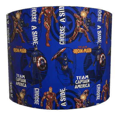 Lampshades Ideal To Match Captain America vs Iron Man Wall Decals & Stickers.