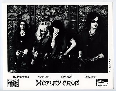 Motley Crue BW 8 x 10 Promo Photo Vintage Motley Records Jim Purdum