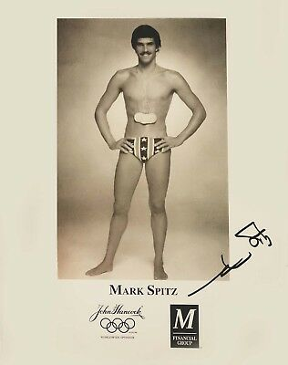 "Mark Spitz Olympic Gold Swimmer Hand-Signed Autographed Portrait Photo 8.5""x11"""