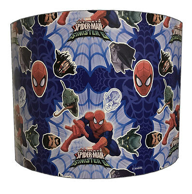 Spiderman Lampshades Ideal To Match Spiderman Wallpaper & Spiderman Duvets.