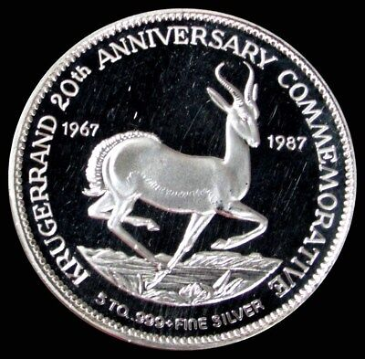 1967-1987 Silver Krugerrand 5 Oz Commemorative Round Proof