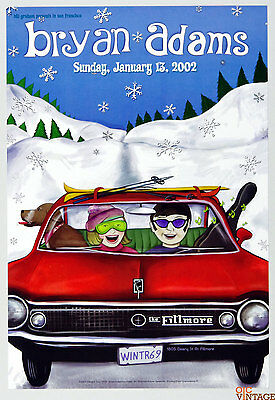 Bryan Adams 2002 Jan 13 New Fillmore Poster F505