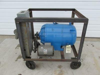 25 HP Rotary Phase Converter Single to 3 Phase w/Cart