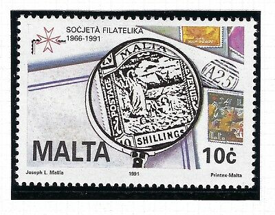 Malta Mnh 1991 Sg 887 25Th Anniversary  Of Philatelic Society Of Malta.