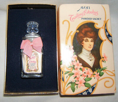 Vintage AVON TRAILING ARBUTUS Powder Sachet Original Box Circa 1978 ~ FREE SHIP