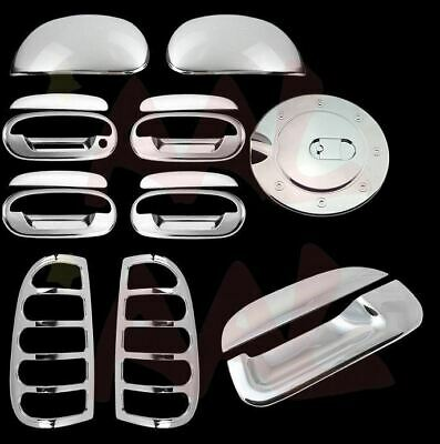 Back Plate Chrome Cover For 17-18 FORD F250 F350 Top Mirror 2Drs Handles