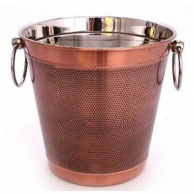 Champagne Ice Bucket Copper Wine Drinks Beer Cooler Party Bowl Stainless Steel
