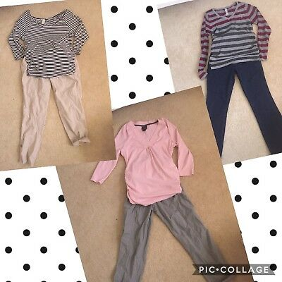 Maternity 6 piece LOT * Med - Large Motherhood * 3 Top & pants