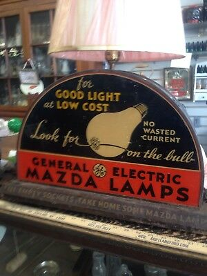 General Electric National Mazda Lamps Sign