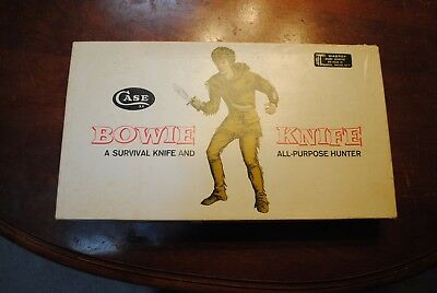 CASE XX USA 1836 BOWIE HUNTER  / SURVIVAL KNIFE W/ LEATHER SHEATH in DISPLAY BOX