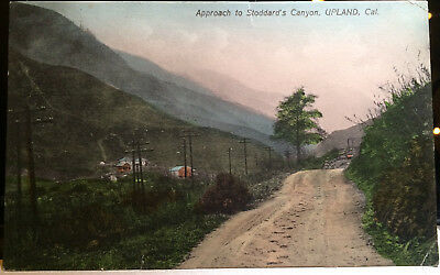 UPLAND, CALIF. Hand Colored Post Card '05-15 San Bernardino Co STODDARD'S CANYON