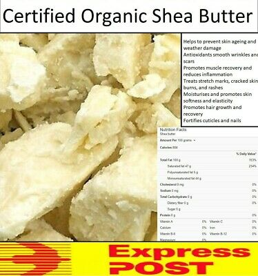 Certified Organic Shea Nut Butter 100% Pure Natural Unrefined Raw A Grade