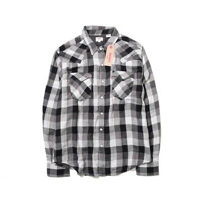 LEVI'S CLASSIC DOUBLEWEAVE WESTERN Shirt Men's, Authentic BRAND NEW (669860070)