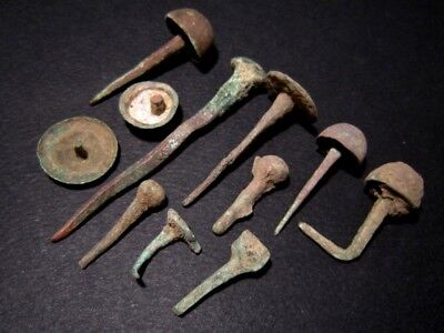 LOT OF 11 pcs. ROMAN BRONZE NAILS, BROAD VARIETY AND GOOD CONDITION+++