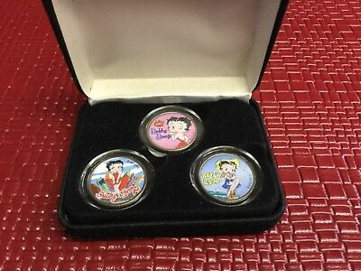 Betty Boop U.s.statehood Quarters Coin Collection Of 3 States
