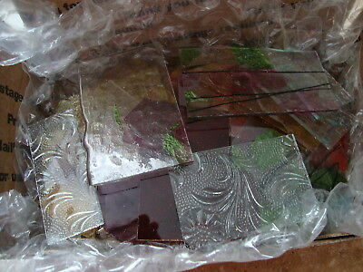 2 Lbs Of Stained Glass Scraps For Mosaics & Small Projects #05