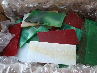 2 Lbs. Stained Glass Scraps For Mosaics & Small Projects #0