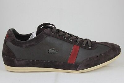 37af6f89fae7e5 Lacoste Men s Misano 22 SRM Leather Suede Dark Brown 26SRM3041176 Brand New