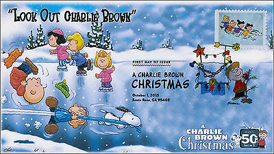 SC 5023, 2015, Charlie Brown Christmas, FDC, DCP, skating, 15-267