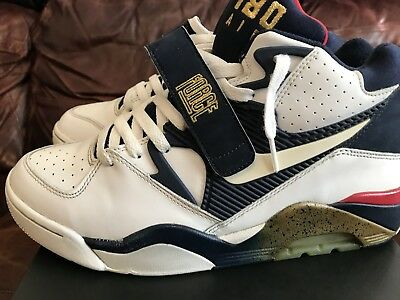 NIKE AIR FORCE 180 WHITE NAVY RED BARKLEY US Size 10 Olympic dream team 2006