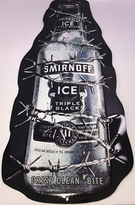 Smirnoff Ice Triple Black Tin Sign - Tall - 26 Inches - Great Condition!