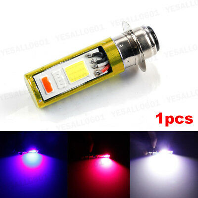 18W COB LED H6M PX15D Motorcycle Headlight Bulb DRL Strobe Flash Lamp 3 Color