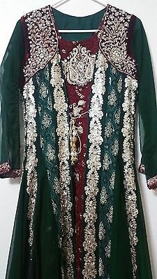 Pakistani Style Frock Suit – 2 Pieces Set Dark Green - Only Used 1 Time