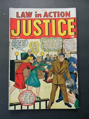 Law In Action Justice Comics No.6 - October 1948