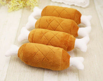 Pet Dog Puppy Toys Chicken Legs Small Plush Sound Toy Dogs Chewing Squeak Soft