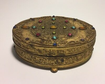 Apollo Jeweled Oval Vanity Box