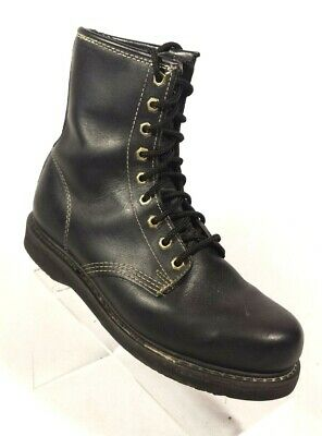 68c104cf9a9 SEARS BLACK LEATHER Steel Toe Oil Resistant Lace up Work Safety Boots Mens  8 D