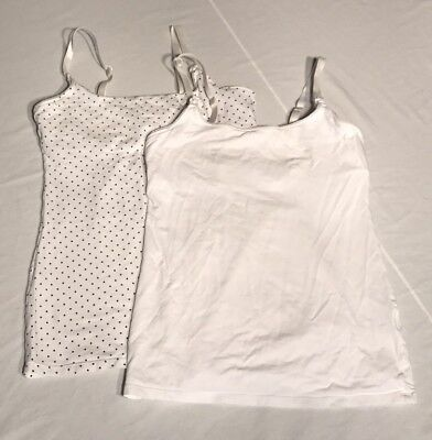 H&M Mama Nursing Maternity Tanks Small S Lot Of 2 White