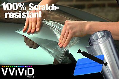 "VViViD Clear Bra Paint Protection Bulk Vinyl Wrap Film 12"" x 84"" Including 3M Sq"
