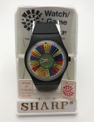 Rare New In Box Old Stock Vintage 1987 Sharp WHEEL OF FORTUNE WATCH Hard To Find