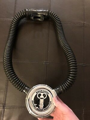 Nice Aqua-Lung Aqua-Master Us Divers Scuba Diving Gear Hose Regulator 125752