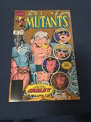 The New Mutants #87 gold variant cover MINT/ N/M 1st CABLE deadpool movie tie in