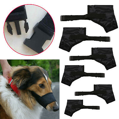 Adjustable Mouth Muzzle Cover For Dog Pet Training Bark Bite Chew Control