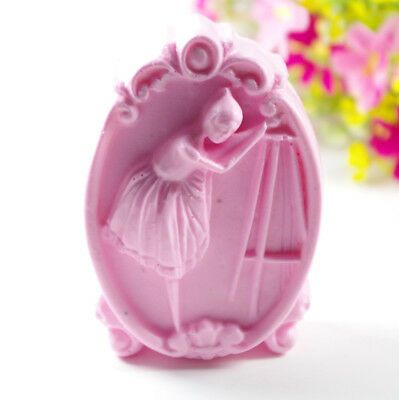 Ballet Girl S446 Silicone Soap molds Craft  DIY Handmade soap Mold Mould