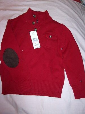 Tommy Hilfiger boys sz 6 Pullover Sweater Red NWT From Macy's  MSRP $44.50