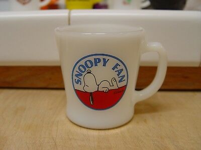 Fire-King Peanuts Snoopy Dog SNOOPY FAN Logoed Character Coffee Mug