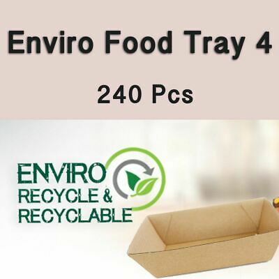 Cardboard Food Boxes Tray 4 Snack 240Pc Takeaway Hot Dog Fish Chips Burger Boxes
