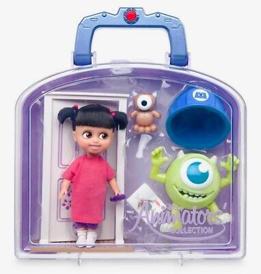 """Disney Animators' Collection Mini Doll 5"""" Boo Monsters, Inc Play Set Carry Case"""