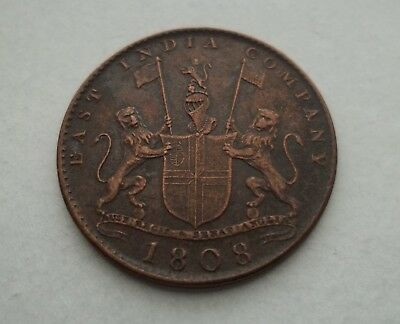 East India Compaany 1808  #km-319 World Coin  Free S/h