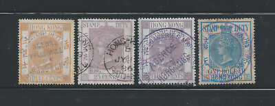 Hong Kong Early QV Revenue Stamps (Used)
