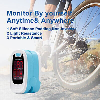 Fingertip Pulse Oximeter Blood Oxygen SPO2 Meter Monitor,Pouch,Lanyard USA LED