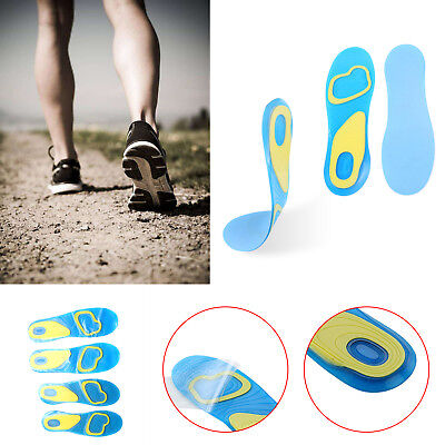 Active Gel High Impact Shoe Insoles Work Walking Sports Extra Comfort Absorption