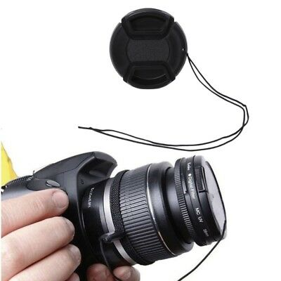 52mm Center Pinch Snap-On Lens Cap + Anti-lost Rope Kit For DSLR Camera