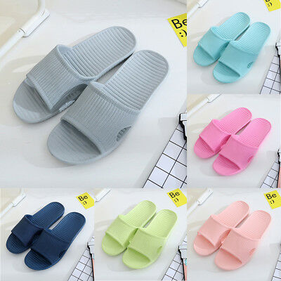 Women Men Flat Bath Slippers Summer Sandals Casual Indoor & Outdoor Slippers